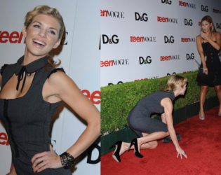 Annalynne Mc Cord Falling On The Red Carpet