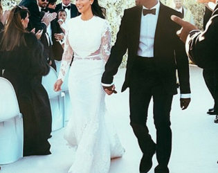 Kim Kardashian Wedding Gown