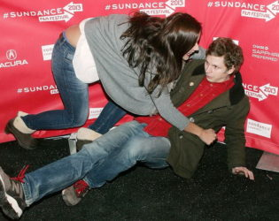 Michael Cera Falling On The Red Carpet