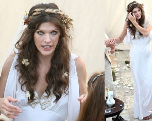 Milla Jovovich Wedding Dress