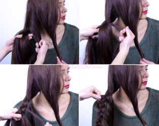 Braid Over Braid Hairstyle Instructions
