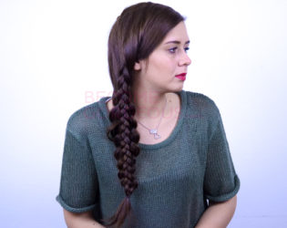 Braid Over Braid Ponytail Finished Hairstyle