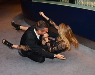 Cara Delevingne Falling On The Red Carpet