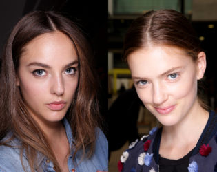 Center Parted Hair Spring 2015 Trends London Fashion Week
