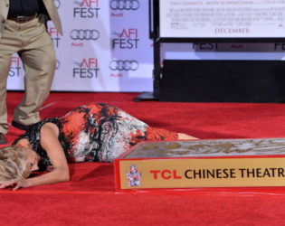 Emma Thompson Falling On The Red Carpet