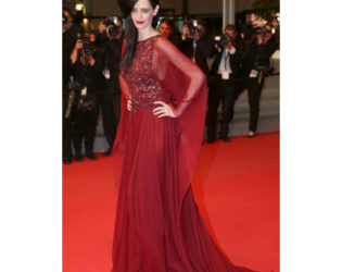 Eva Green Burgundy Dress 2014 Cannes Festival The Salvation Premiere