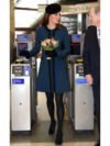 Kate Middleton Maternity Blue Marlene Birger Dress