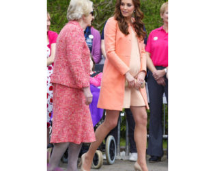 Kate Middleton Maternity Peach Coat Outfit