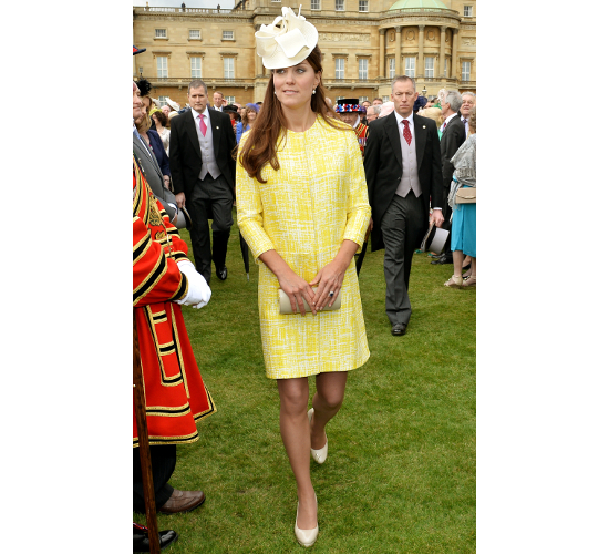 Kate Middleton Maternity Yellow Coat Dress Outfit