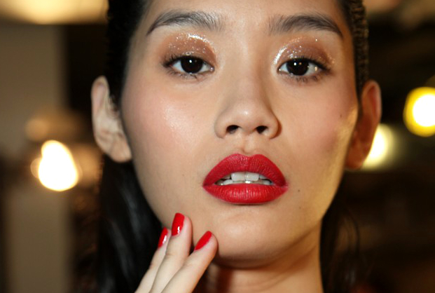 Red Lips And Nails Zac Posen Spring 2015