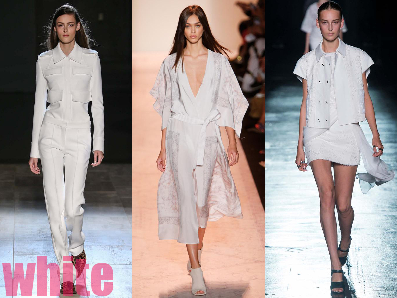White On White Best Spring 2015 Trends From New York Fashion Week