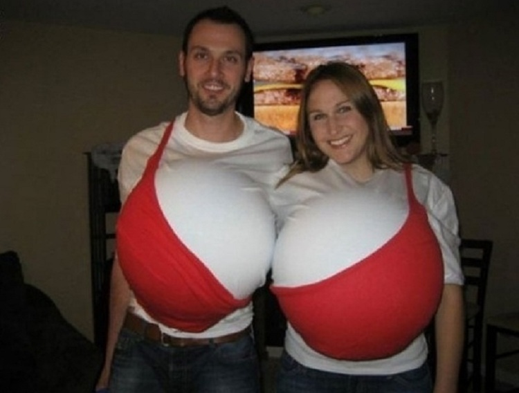 Boobs Couples Halloween Costumes
