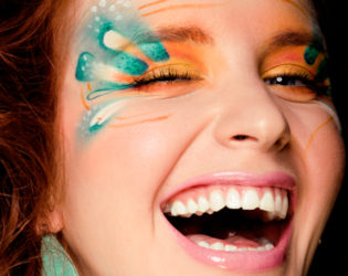 Colorful Rave Makeup