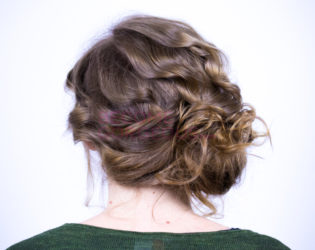 Face Slimming Updo Back View