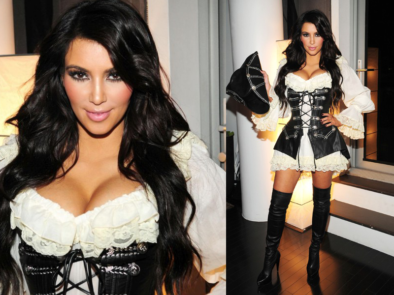 Kim Kardashian Sexy Pirate Halloween Costume