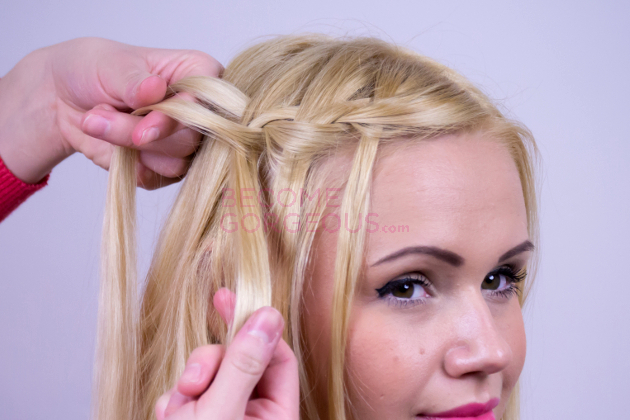 Modified Waterfall Braid Step 3