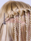 Modified Waterfall Braid Step 8