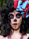 Simple Sugar Skull Makeup