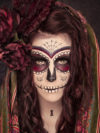 Sugar Skull Makeup With Roses
