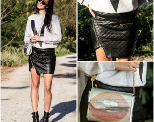 Ankle Boots With Mini Skirt