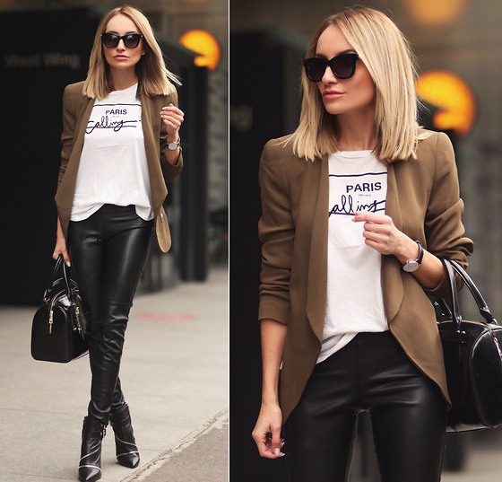 Wearing Ankle Boots With Leather Leggings