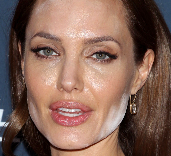 Angelina Jolie Makeup Fail