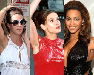 Celebrities With Hairy Armpits