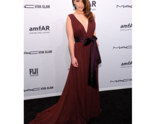 Emilia Clarke Wearing Marsala Color Of The Year 2015