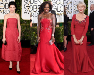 Golden Globes 2015 Red Gowns
