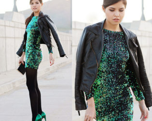 How To Wear Shimmering Dresses