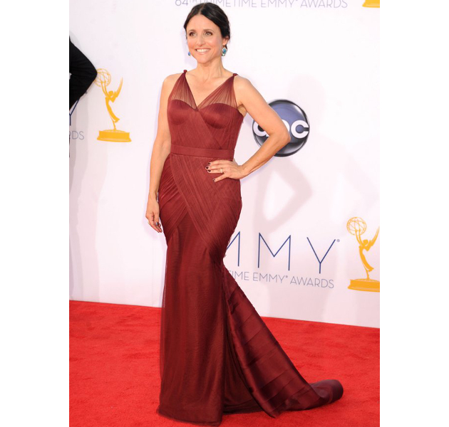 Julia Louis Dreyfus Wearing Marsala Color Of The Year 2015