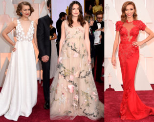 Oscars 2015 Floral Gowns