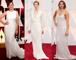 Oscars 2015 Off White Gowns