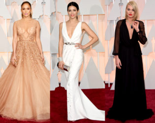 Oscars 2015 Plunging Gowns