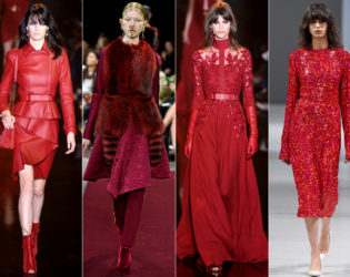 Color Red Fall 2015 Trends Paris Fashion Week
