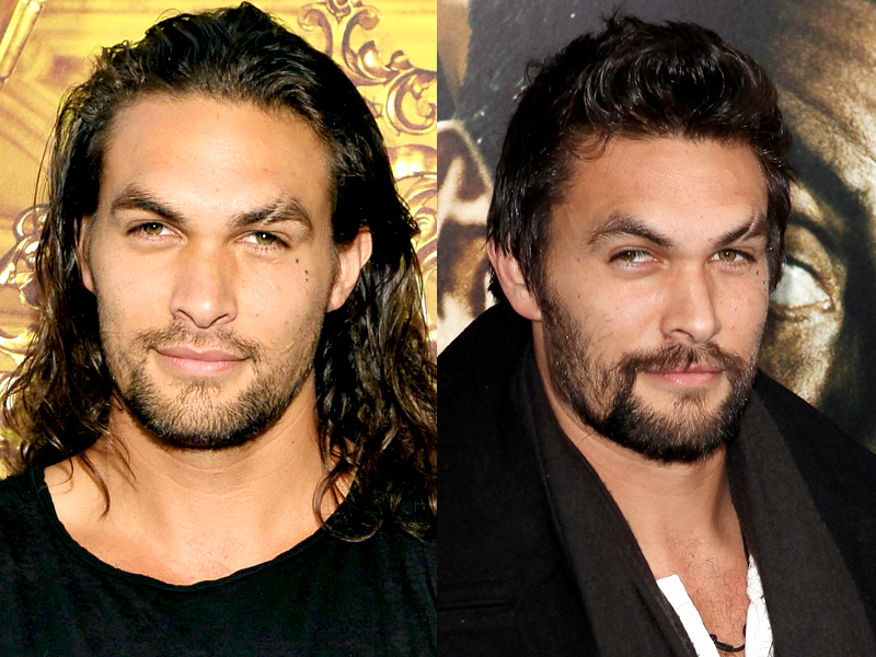 Pictures Male Celebrities Who Look Better With Long Hair Jason Momoa Long Hair And Short