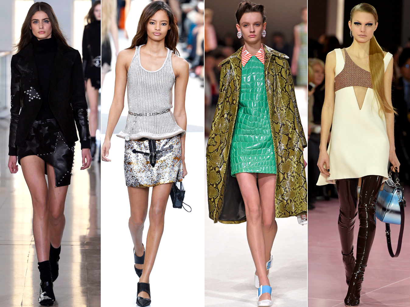 Mini Skirts And Dresses Fall 2015 Trends Paris Fashion Week
