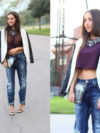 Crop Top With Boyfriend Jeans