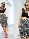 Crop Top With Pencil Skirt
