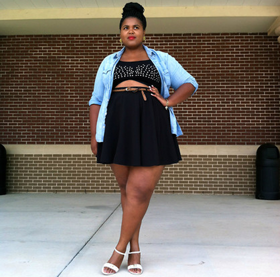 Curvy Crop Top Outfit