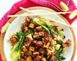 Peanut Tofu And Cauliflower Rice Stir Fry