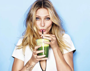 Cameron Diaz Drinking Water