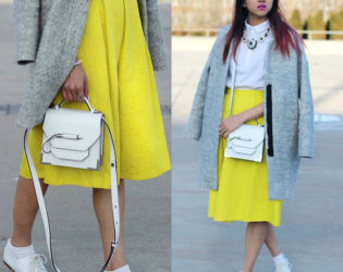 Midi Skirt With Button Up Shirt