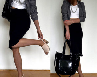 Midi Skirt With Cropped Jacket