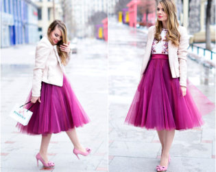 Tulle Skirt With Blazer