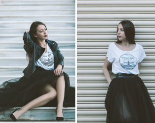 Tulle Skirt With Graphic Tee