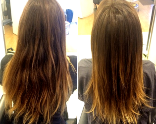 Candle Hair Burning Before And After