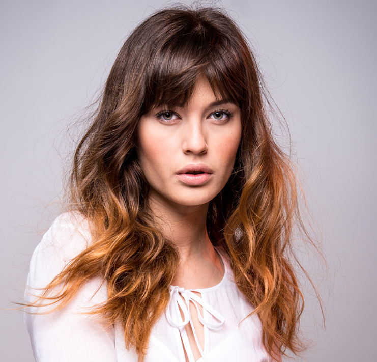 Long Hair With Bangs To Look Younger
