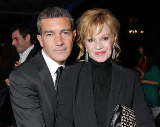 Melania Griffith And Antonio Banderas