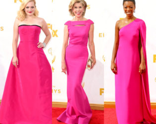 Neon Pink Dresses Emmys 2015